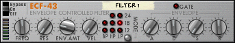 Envelope Controlled Filter ECF-43